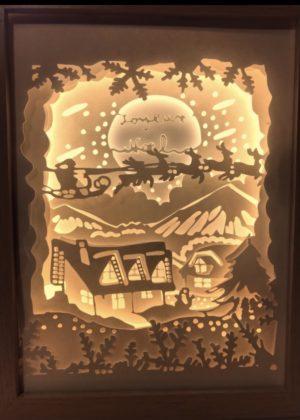 cadre lumineux de Noël