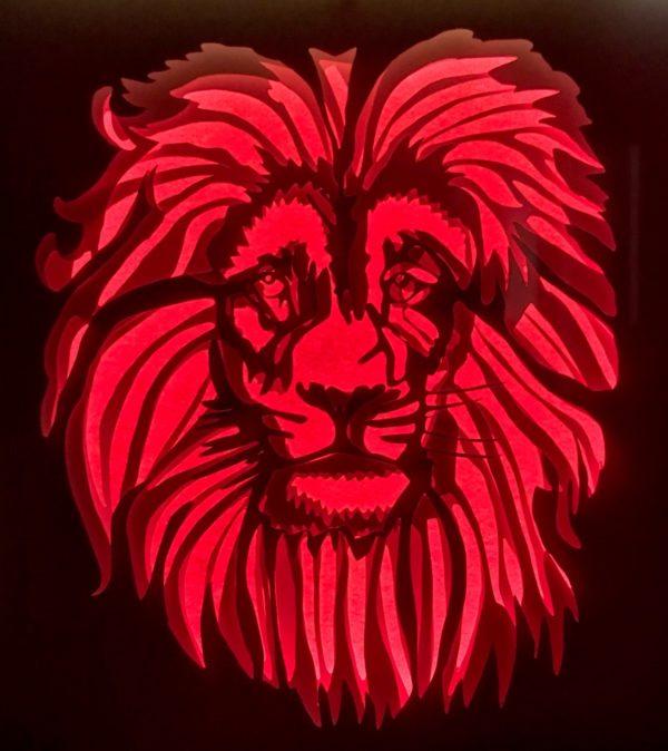 """cadre lumineux """"Lion"""""""